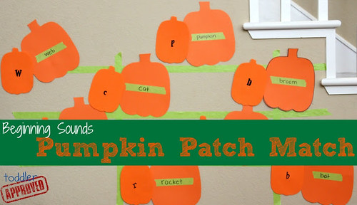 Beginning Sounds Pumpkin Patch Match (Photo from Toddler Approved)