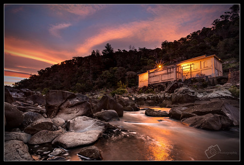 trees light sunset sky reflection water clouds rocks stream tasmania powerstation launceston cataractgorge duckreach