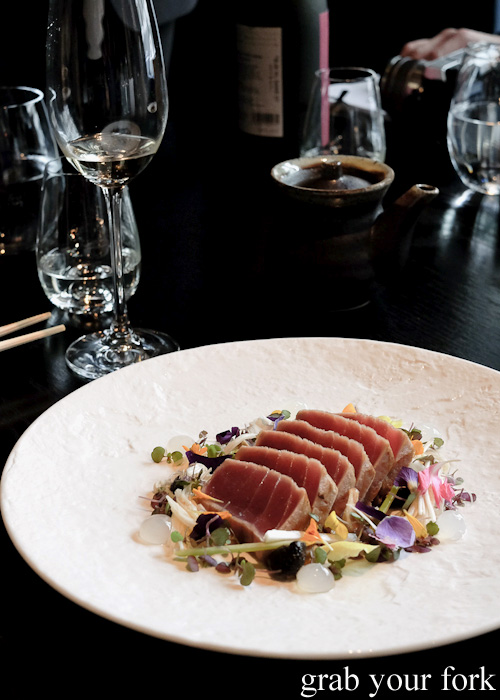 Maguro tuna tataki at Sokyo at The Star, Pyrmont