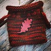 Another pouch in my private collection. I keep healing stones in it. #knitting #pouch