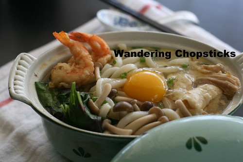 Nabeyaki Udon (Japanese Hot Pot Thick Noodle Soup) 12