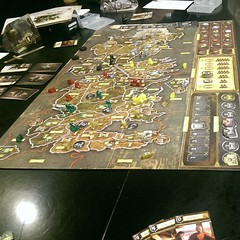 Last night's game of thrones! I won, but only through turtling for several rounds