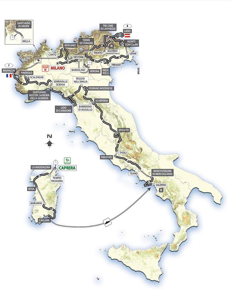 Giro d'Italia 2007 - Planimetria generale