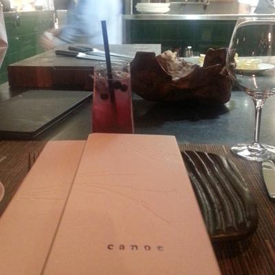 Canoe menu