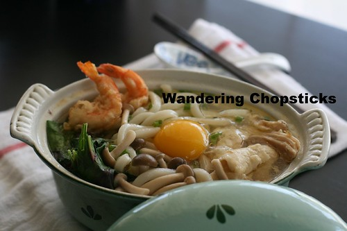 Nabeyaki Udon (Japanese Hot Pot Thick Noodle Soup) 2