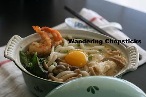 Nabeyaki Udon (Japanese Hot Pot Thick Noodle Soup) 2