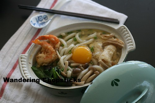 Nabeyaki Udon (Japanese Hot Pot Thick Noodle Soup) 1