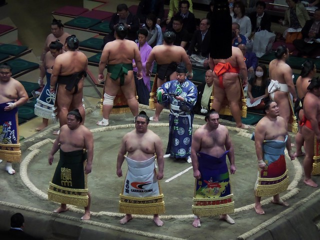 Ring Entrance of Juryo Grade Wrestlers
