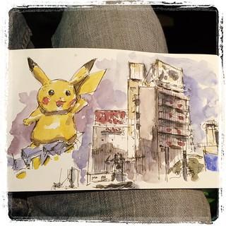 #japon #pokemon #urbansketch