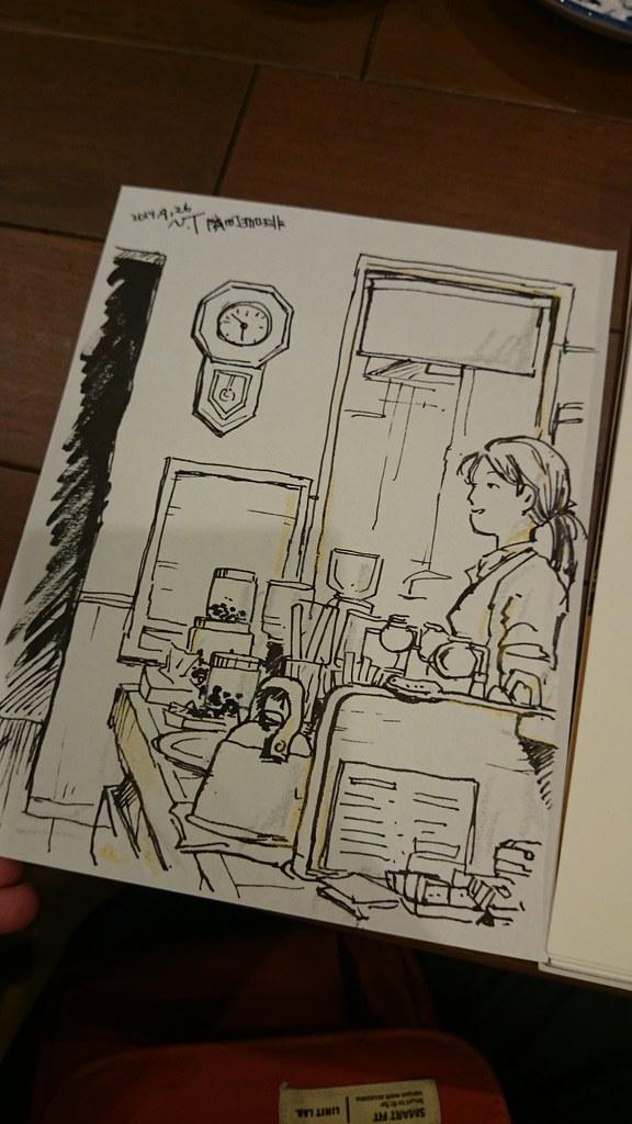 隣町珈琲のカウンター