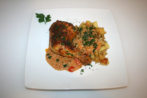 65 - Hähnchenpaprikasch - Serviert / Chicken Paprikasch - Served
