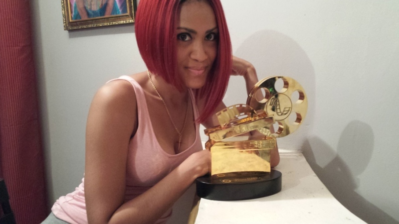 Sonia Ibrahim displays her NAFCA Award