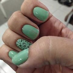 essa semana eu vou assim  #nails #Green #colorama