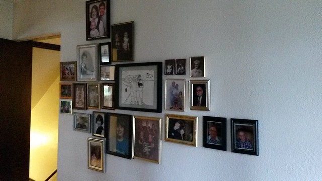 Family photo wall progress