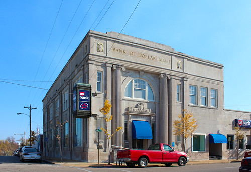 downtown bank missouri poplarbluff bankbuilding butlercounty