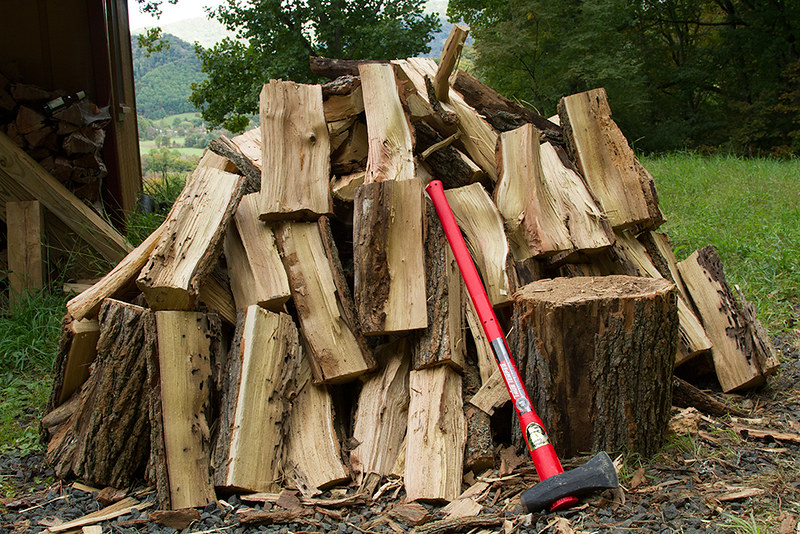 making firewood by yourself