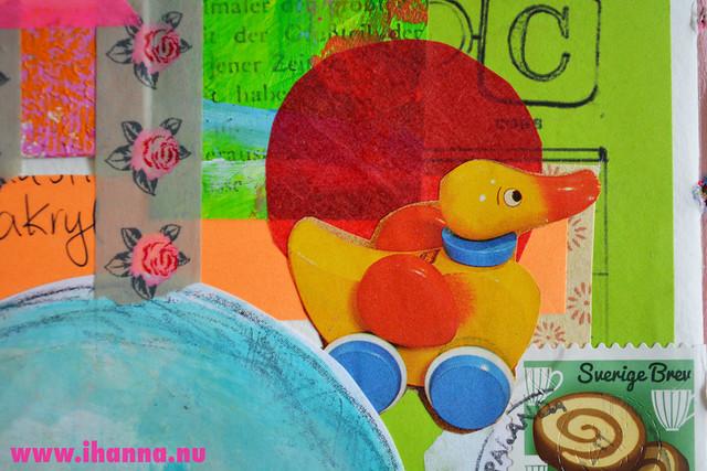 Art Journal detail: Duck, by iHanna of www.ihanna.nu