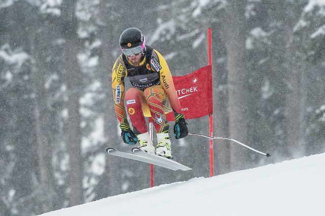 Tyler WERRY of Canada takes 2nd place in the Mens Downhill at the Sport Chek Alpine Canadian Nationals held on Whistler Mountain, Mar 22nd, 2014 - Photo By Scott Brammer - coastphoto.com