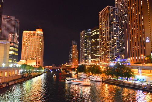 usa colour art beautiful night buildings photo nikon cityscape colours arty view artistic creative colourful chicagoriver nikkor 28300mm d600 paultrottier
