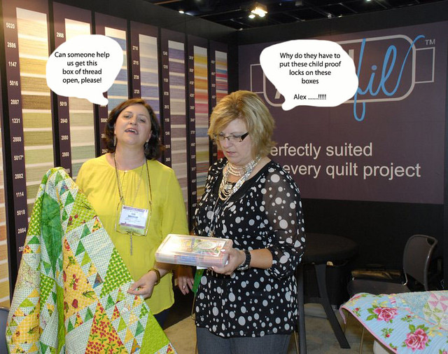Pat sloan with quilt JaneThreadBox