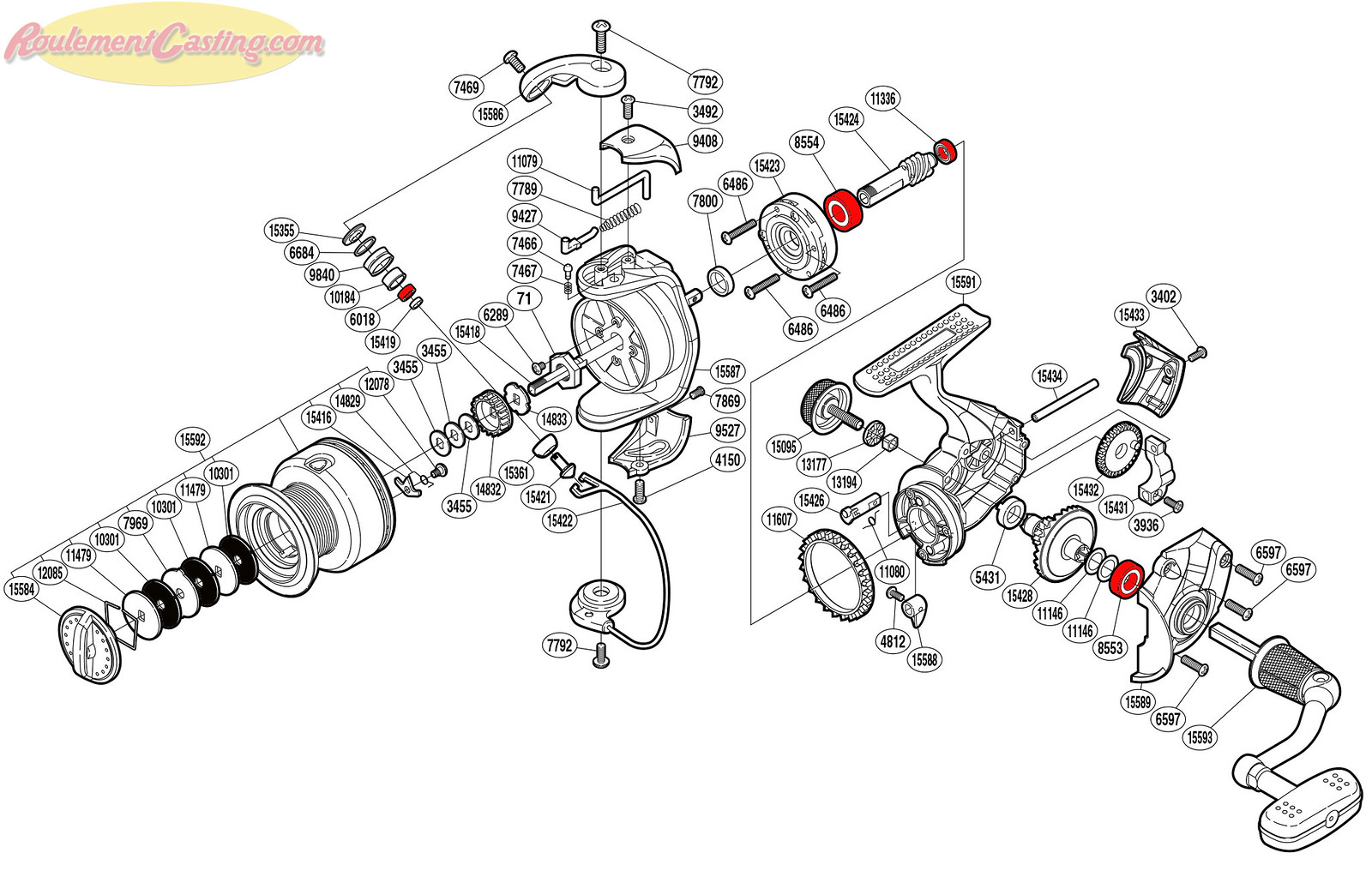 Schéma Shimano Symetre 3000FL