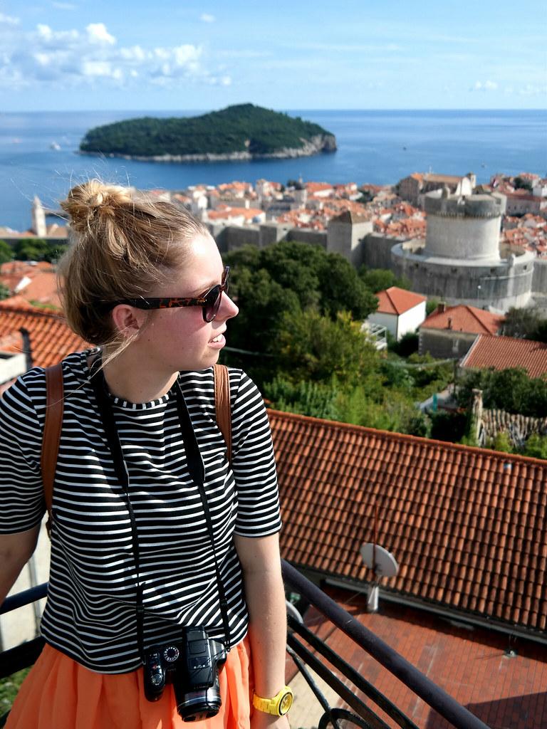 Croatia outfit post breton skater skirt #ootd