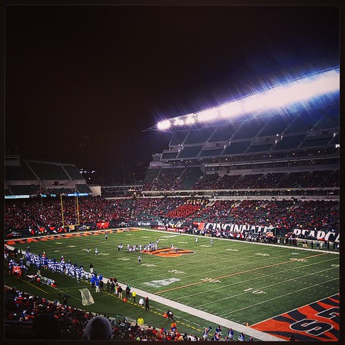 @genmae5 and I are at Paul Brown Stadium to watch them #UC #Bearcats take on the Memphis Tigers...