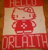 HELLO KITTY BLANKET FOR ORLAITH