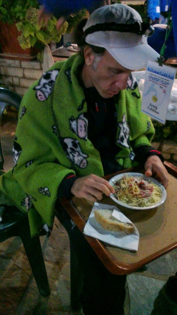 Trying to eat some food at Nestani 172K. Photo: Alessia