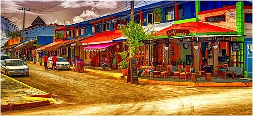 Main Street in Puerto Morelos MX