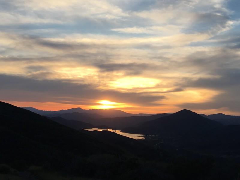 Bouquet Reservoir at Sunset