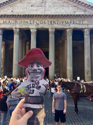 Emily Shlafmitz '18 majoring in English participating on spring 17 London English study group at Pantheon, Rome