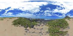Ka'ena Point State Park Reserve, O'ahu, Hawai'i - a 360° Equirectangular VR