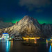 Svolvaer Northern Lights Panorama by brianconnollyphoto