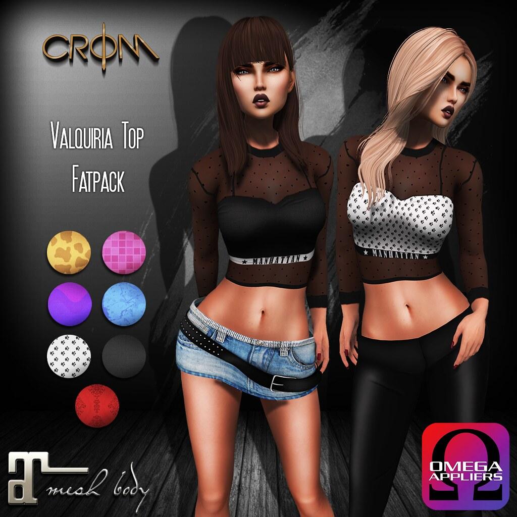 -CroM- Valquiria - NEW!! Fatpack TOPS = 60L PROMO - SecondLifeHub.com