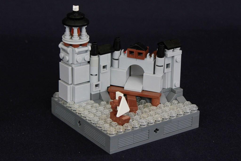 Summer Joust Prize: Faerdham Port (custom built Lego model)