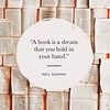 """""""A book is a dream that you hold in your hand."""" Neil Gaiman #WorldBookDay """