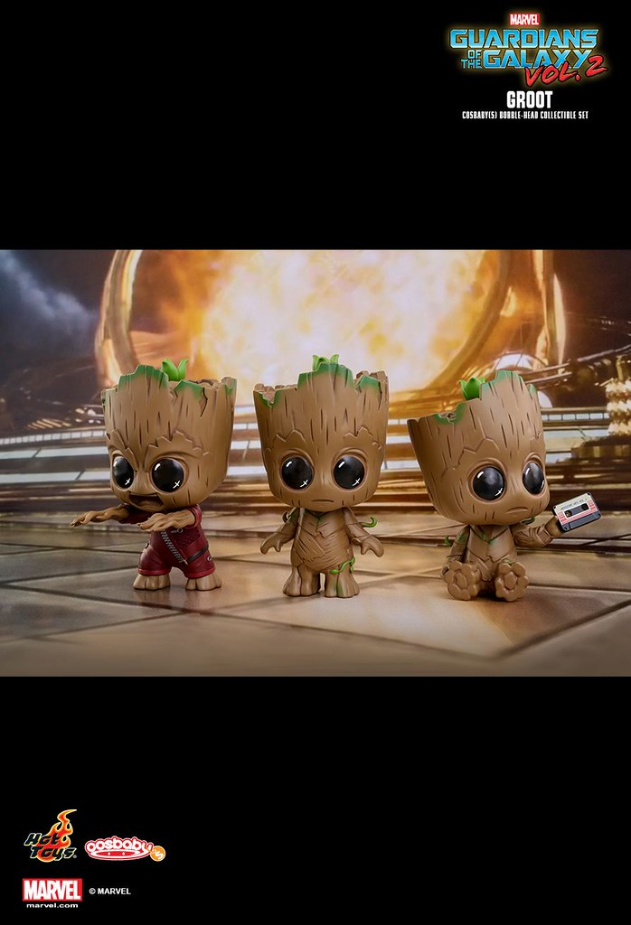 「I am Groot!」Hot Toys COSB360 《星際異攻隊2》格魯特 Groot Cosbaby Bobble-Head 3-Pack