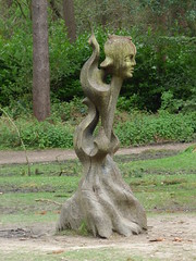 Lickey Hills Country Park - wooden sculpture - The Spirit of the Woods