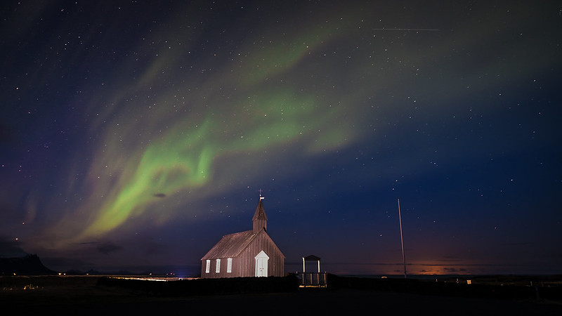 Best place to see the Northern Lights in Budir, Iceland