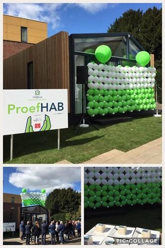 Ballonnenwand Opening 1e Habhuis Lobith