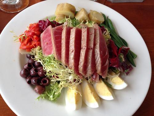 Seared ahi tuna salad Nicoise at the Beach Chalet