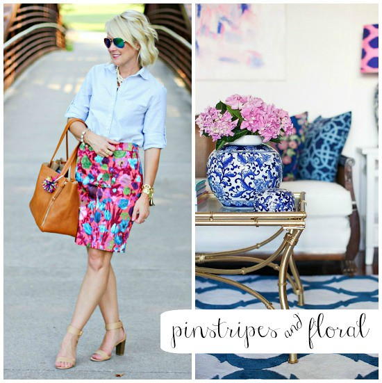 Outfit Inspiration | Pinstripes & Floral