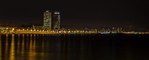 barcelona night landscape nocturna hdr lamerce litoralbcn