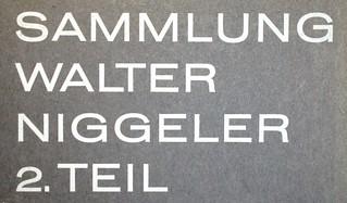 Niggeler sale 21 Oct 1966
