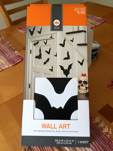 Halloween Bats Self Adhesive Decor