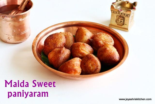 Maida-rava-sweet-paniyaram