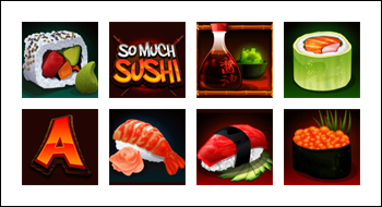 free So Much Sushi slot game symbols