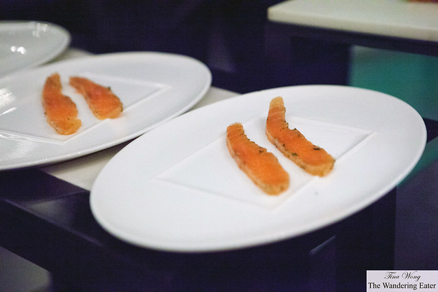 Slices of fresh lox