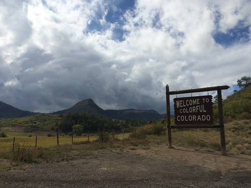 blanco rain sign landscape colorado welcome